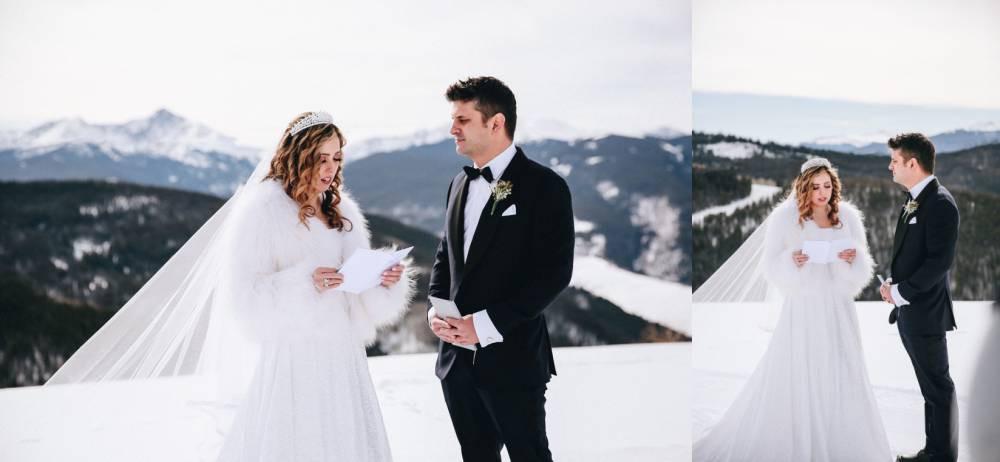 Vail colorado Winter Wedding Ceremony