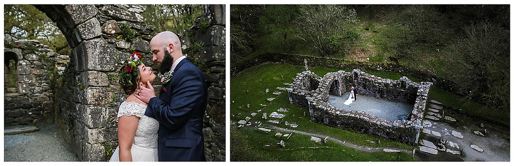 Ireland Abbey Drone Wedding Photographer