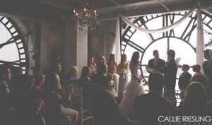 clock tower wedding photography