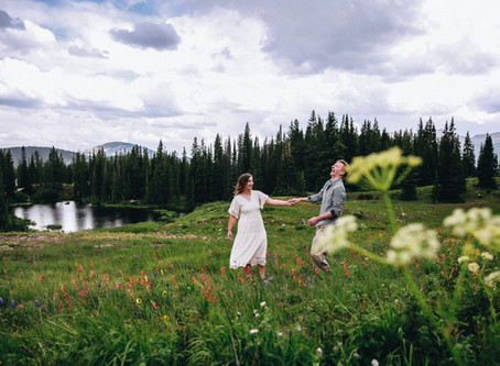 Crested Butte Summer Engagement Session - Crested Butte Wedding Photographer