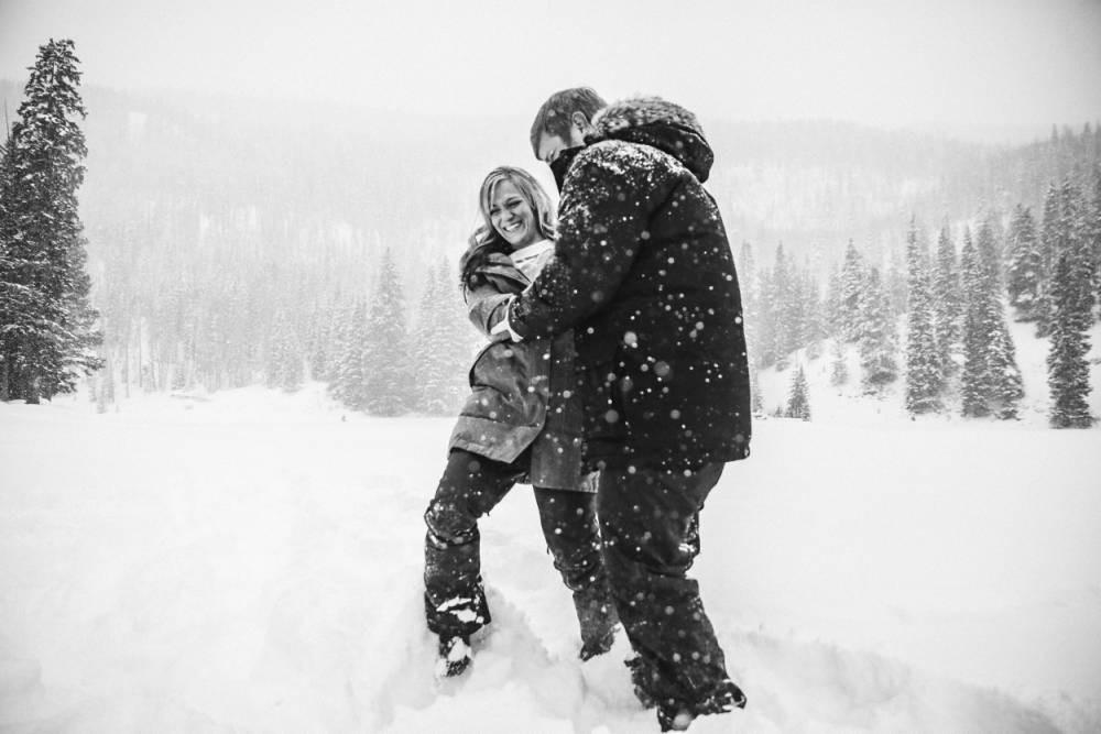 durango winter wedding photography