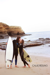 surf engagement session - san clemente wedding photography