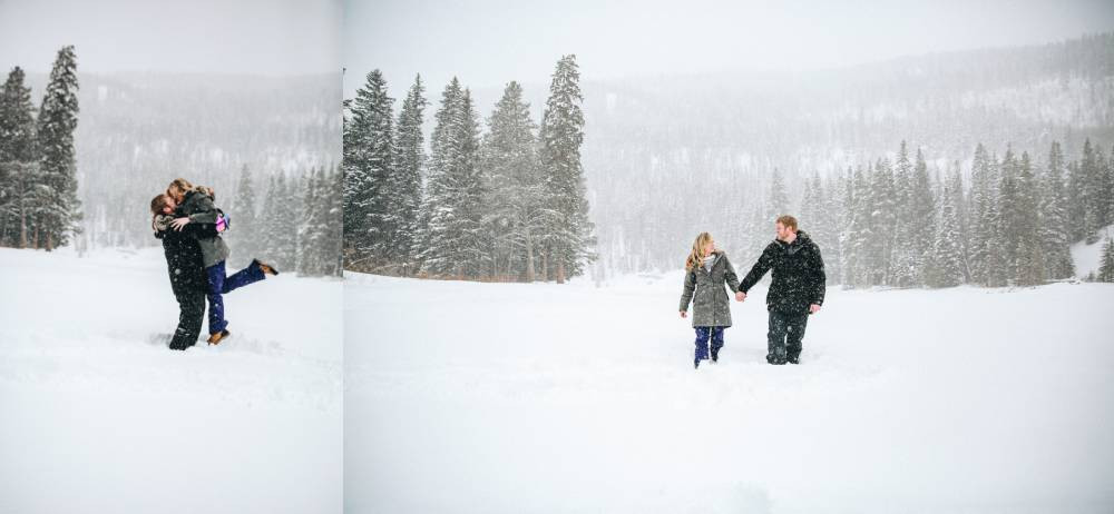denver winter engagement photos