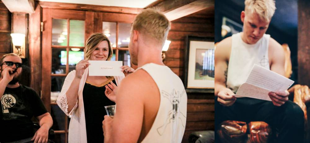 Letters to your groom before the wedding