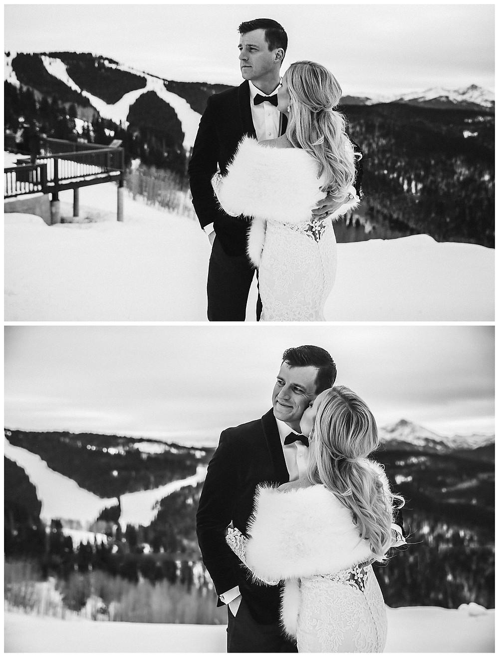 Vail Wedding Deck in Winter