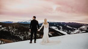 Four Seasons Vail Elopement at Christmas- Dan + Devon - Vail Wedding Photographer