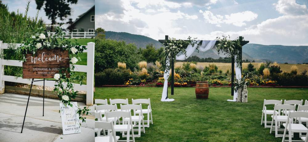 crooked willow farms wedding ceremony