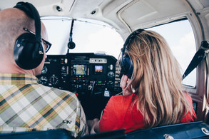 airplane engagement session