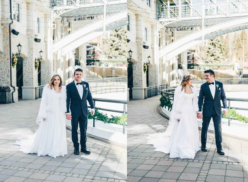 Skating Rink Wedding Photos