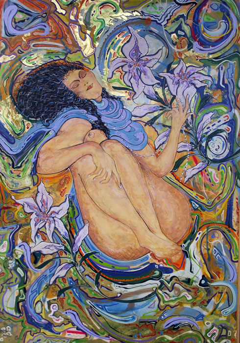 DREAMING WITH LILIES - SOLD