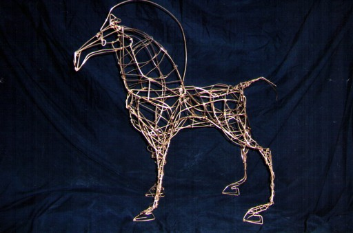 Copper Wire Horse - SOLD