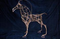 Copper Wire Horse - SOLD