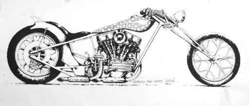 Old Pan Head Harley Davidson