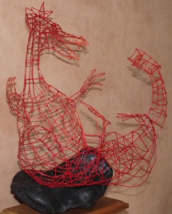 Happy red dragon - SOLD