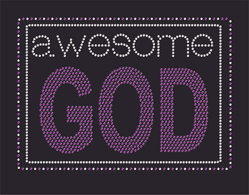 Rhinestone  Awesome God  Heat Transfer