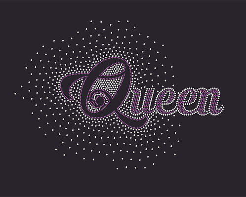 Queen Rhinestone Transfer