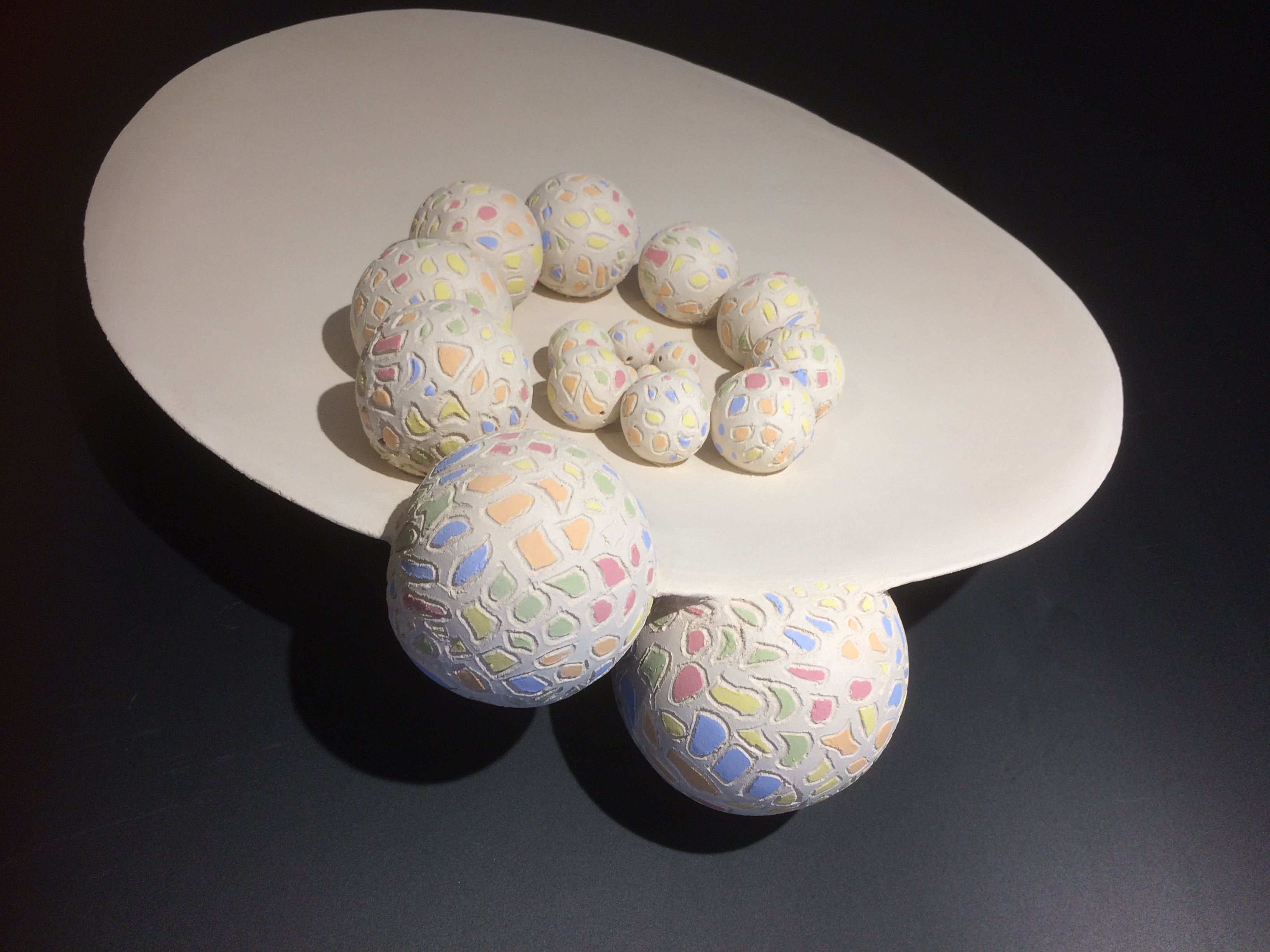 Coupe à fruits en céramique