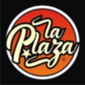 Logo LA PLAZA (a color sobre fondo negro