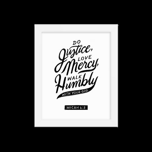 Micah 6:8 Framed poster