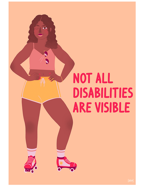 'Not All Disabilities Are Visible' Giclee Print