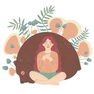 Reishi Mushroom Extract Illustration