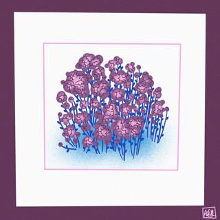 Flower Study in Purple II