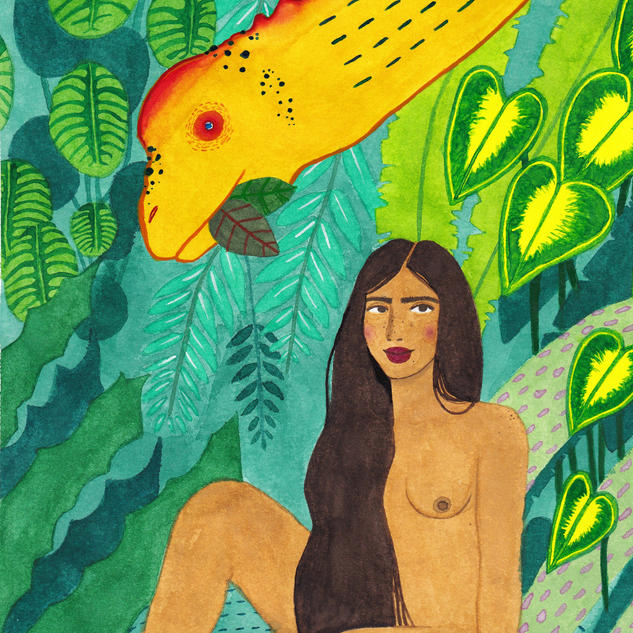 Woman and Camarasaurus