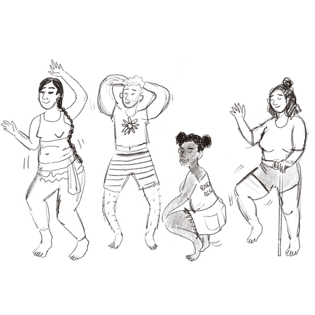 Rough Sketch for BBC Body Positive