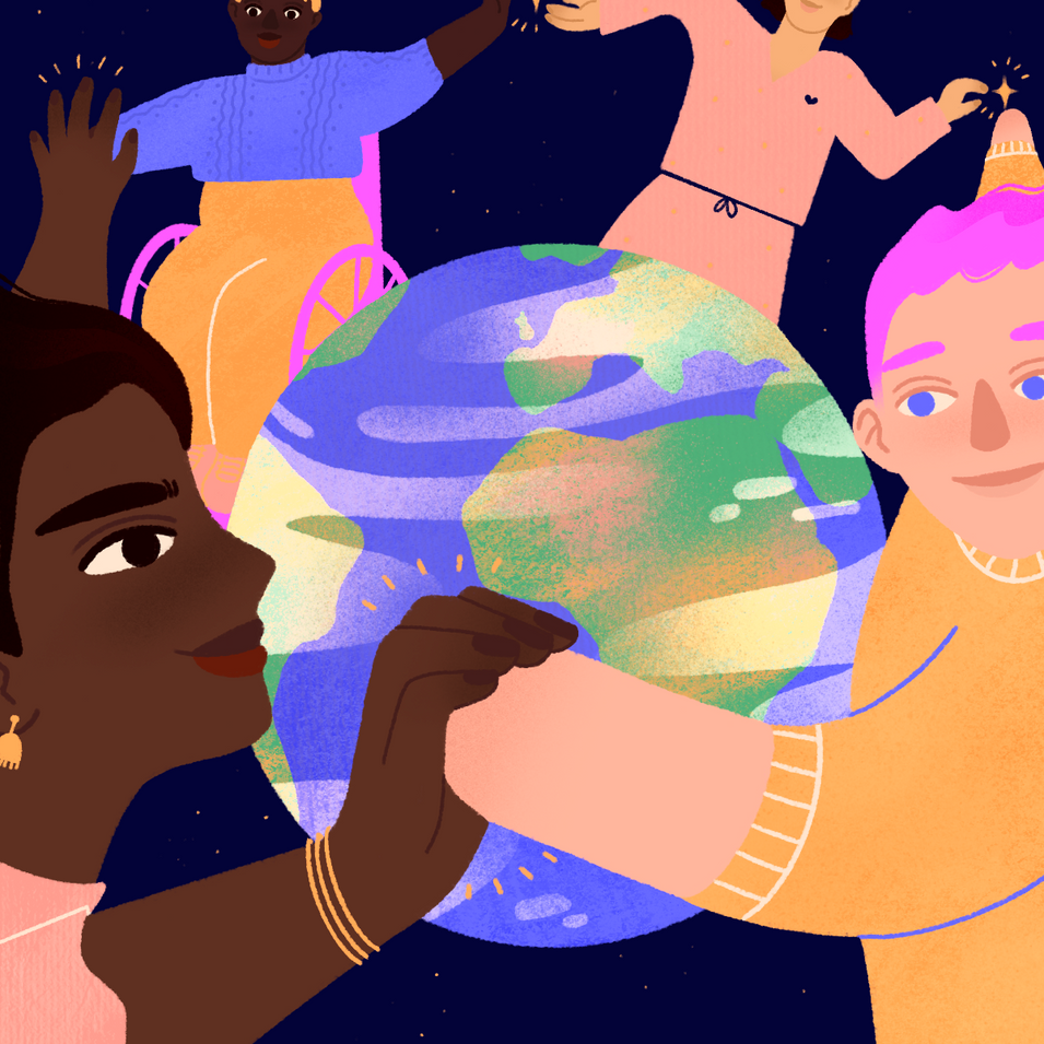 Illustration for Instagram and the UN inspired by the power of the disabled community.