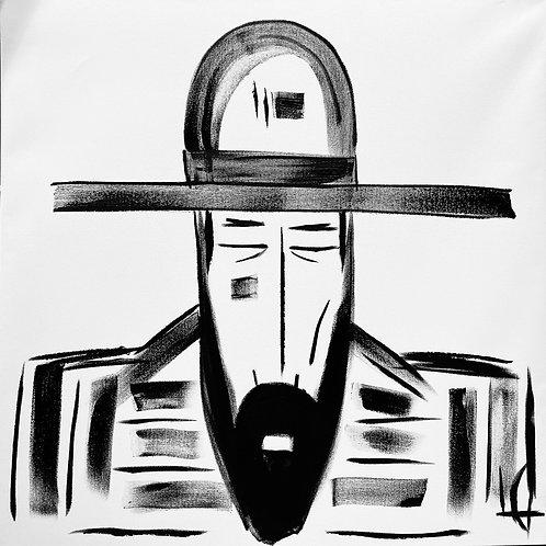 Man in Hat 614