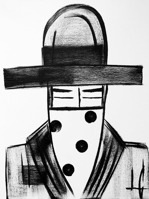Man in Hat 607