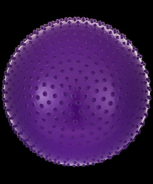 Мяч гимнастический массажный GB-301 55 см, антивзрыв, фиолетовый