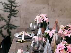 Colourful floral arrangements for the festive table