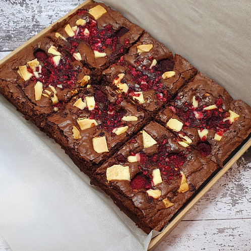 White Chocolate and Raspberry Brownies - Box of 6