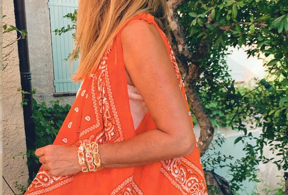Le Beach Bear Bag BANDANA orange