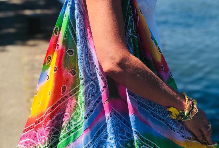 Beach Bandana Bag RAINBOW