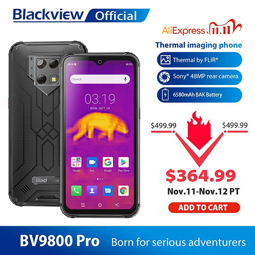 Blackview BV9800 Pro Global First Thermal Imaging Smartphone Helio P70