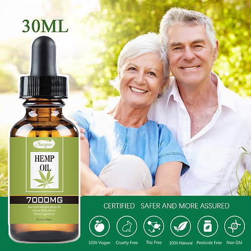 7000mg 30ml Organic Essential Hemp Oil Contain CBD Ingredient Herbal Drops