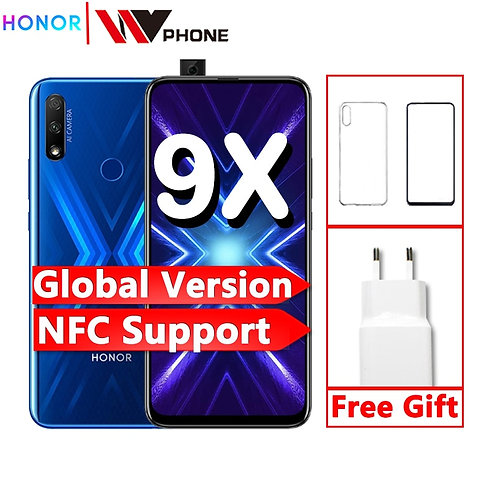 Global Version Honor 9x Smart Phone 48MP Triple Cameras Nfc 4000mAh 6.59 Inch