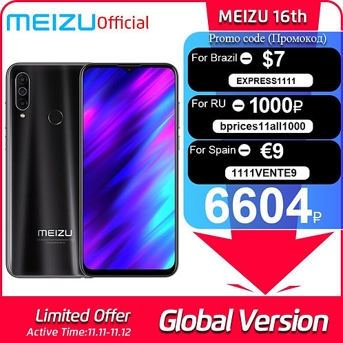 Global Version Meizu M10 2GB 32GB MTK P25 Octa Core Triple Camera