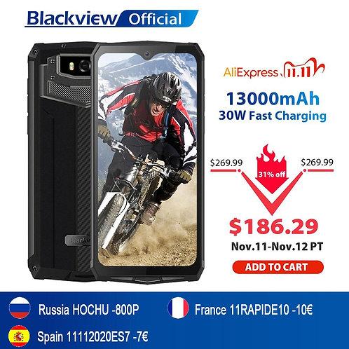 Blackview BV9100 IP68 Waterproof Cellphone 13000mAH 30W Fast Charging 4G