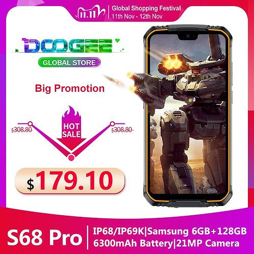 IP68 Doogee S68 Pro Rugged Phone Helio P70 Octa-Core 6GB 128GB 21MP+8MP+8MP