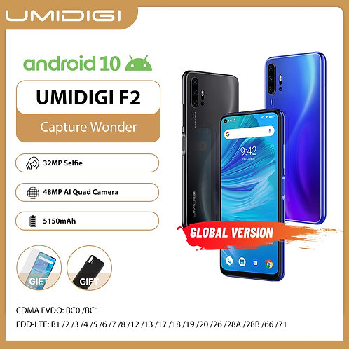 "UMIDIGI F2 Phone Android 10 Global Version 6.53"" FHD+ 6GB 128GB 48MP"