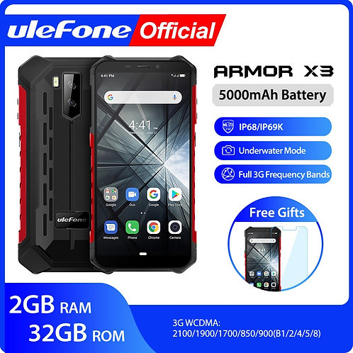 Ulefone Armor X3 Ip68 Rugged Waterproof Smartphone Android 9.0