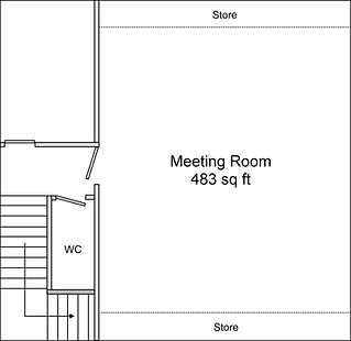 Plan of upper room