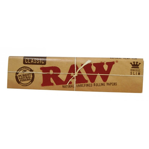 RAW Classic King Size Slim Natural unbleached box