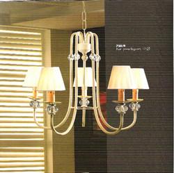 lampara forja 5 luces