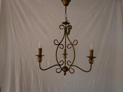 lampara forja 3 luces