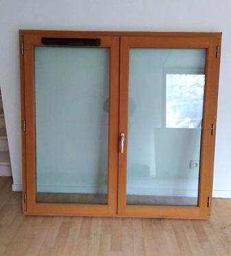 Fenêtres double en bois exotique AVEC SON CADRE
