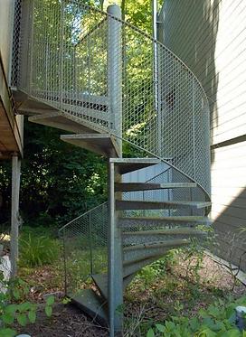 Escaliers calimaçon Acier galvanisé